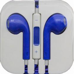 Наушники для iPhone 4 / 5 /синие/