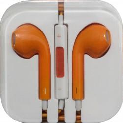 Наушники для iPhone 4 / 5 /оранжевые/