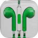 Наушники для iPhone 4 / 5 /зеленые/