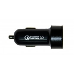 Зарядное устройство от прикуривателя автомобиля Qualcomm Quick Charge 2.0 2*USB /15W/