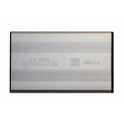 """Внешний корпус для жесткого диска 2.5"""" USB2.0 BET-S254 серебро"""