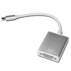 Кабель PALMEXX UsbC-VGA / серебро