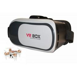 Квадрокоптер с камерой Mini FPV Drone CX-10WD-TX + Шлем виртуальной реальности VR BOX 2.0