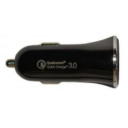 Зарядное устройство от прикуривателя автомобиля Qualcomm Quick Charge3.0  USB