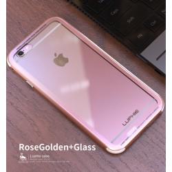 Чехол LUPHIE для IPHONE6PLUS TOUGHENED GLASS PROTECTION / розовое золото