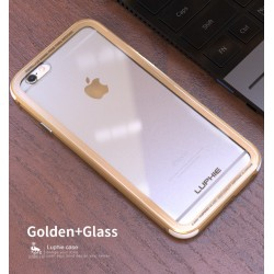 Чехол LUPHIE для IPHONE6PLUS TOUGHENED GLASS PROTECTION / золото