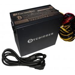 Блок питания ATX KENWEIIPC LL1600PP 90PLUS gold 1600W 100-240VAC 47-63Hz 3.3V-5V-12V 125Amax, 7xSATA, 5xmolex, 24pin, 6x(6+2)pin