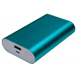 Портативный внешний аккумулятор PALMEXX 1*USB металлический корпус /10000mAh/ (голубой)