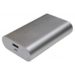 Портативный внешний аккумулятор PALMEXX 1*USB металлический корпус /10000mAh/ (серебро)