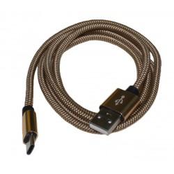 Кабель PALMEXX USB C-type - USB2.0 в оплетке /золото