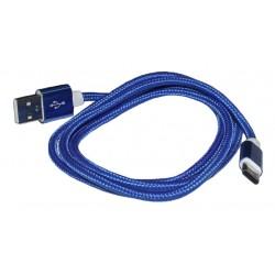 Кабель PALMEXX USB C-type - USB2.0 в оплетке /синий