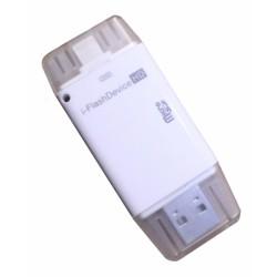 Переходник Lightning-USB 2.0 с поддержкой Micro SD/ I-Flash Device HD/