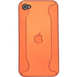 Чехол для iPhone 4G из двух частей с яблоком оранжевый