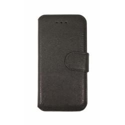 Кожаный чехол PALMEXX книга-подставка для Apple iphone 6 с пластиковым держателем /черный/