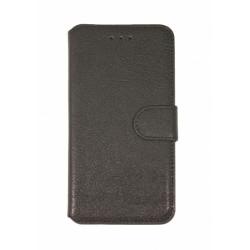 Кожаный чехол PALMEXX книга-подставка для Apple iphone 6Plus с пластиковым держателем /черный/