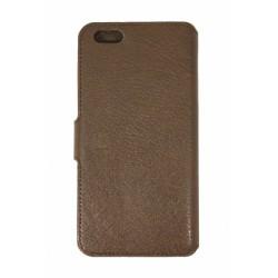 Кожаный чехол PALMEXX книга-подставка для Apple iphone 6Plus с пластиковым держателем /коричневый/
