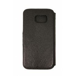 Кожаный чехол PALMEXX книга-подставка для Samsung Galaxy S6 SM-G920F с пластиковым держателем /черный/
