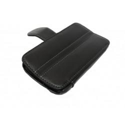 Кожаный чехол HTC Sensation с пластиковым держателем