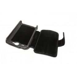Кожаный чехол HTC Wildfire S с пластиковым держателем