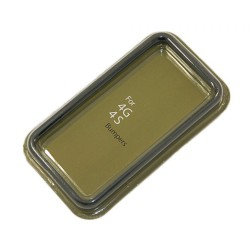 Бампер для Apple iPhone 4S /черный/