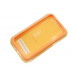 Бампер для Apple iPhone 4S /оранжевый/