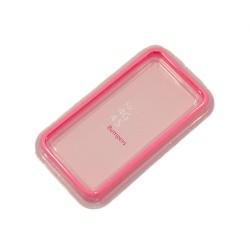 Бампер для Apple iPhone 4S /розовый/