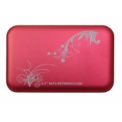 """HDD Case 2.5"""" USB2.0 /красный/"""