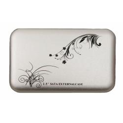 """HDD Case 2.5"""" USB2.0 /серебряный/"""