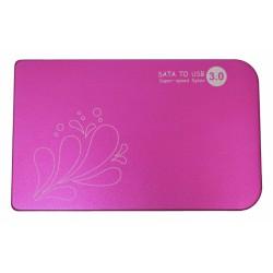 """HDD Case 2.5"""" USB3.0 /малиновый/"""