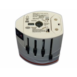 Зарядное устройство 2xUSB портами, совместим с UK/US/EU/AU стандартами 1300W
