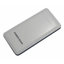 Портативный внешний аккумулятор PALMEXX с фонариком /20000mAh/ (белый-голубая окантовка)