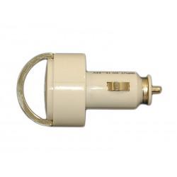Зарядное устройство от прикуривателя автомобиля на 2хUSB порта /5V 3,1A /белый/