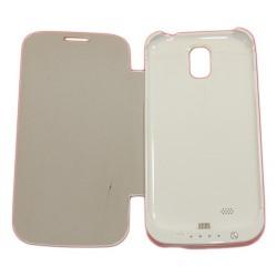 Чехол-книга с аккумулятором для Samsung i9500 Galaxy S4 /3200mAh/белый/