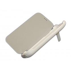Чехол-книга с аккумулятором для Samsung N7100 Note2 /3000mAh/белый/