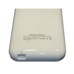 Чехол с аккумулятором для Samsung N7100 Note2 /3200mAh/белый/