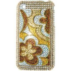 Прозрачный чехол со стразами №15 Apple iPhone 3G / 3GS