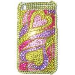 Прозрачный чехол со стразами №19 Apple iPhone 3G / 3GS