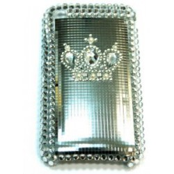Прозрачный чехол со стразами №28 Apple iPhone 3G / 3GS