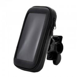 Держатель на руль велосипеда с защитным чехлом для смартфона /размер L/