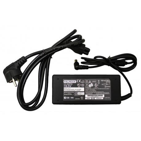 Адаптер питания PALMEXX для ноутбука Sony 19.5V 3.9A (6.5*4.4) с иглой (кабель питания в комплекте)