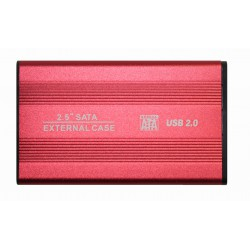 """Внешний корпус для жесткого диска 2.5"""" USB2.0 BET-S254 красный"""