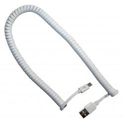 Кабель PALMEXX USB C-type - USB / пружина / длина 2м / белый
