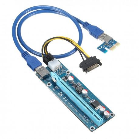 Райзер 12v 6pin ver 006C PCI-E PCI Express Riser USB 3.0