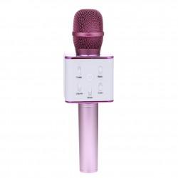Беспроводной микрофон-караоке с встроенным динамиком Q7 /розовый