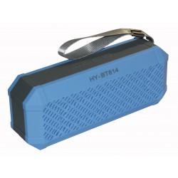 Bluetooth колонки с радио и mp3-проигрывателем HY-BT814L / синий