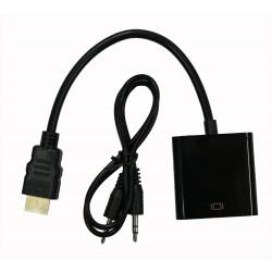 Кабель PALMEXX HDMI - VGA-AUDIO черный