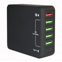 Зарядное устройство Qualcomm Quick Charge 3.0 6*USB /5V-8Amax/