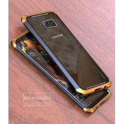 Чехол LUPHIE для SAMSUNG S8 DOUBLE DRAGON / черный+золото