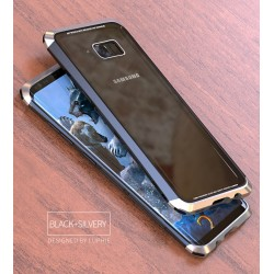 Чехол LUPHIE для SAMSUNG S8 DOUBLE DRAGON / черный+серебро