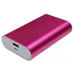 Портативный внешний аккумулятор PALMEXX 1*USB металлический корпус /10000mAh/ (розовый)